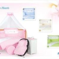 Бортик для кроватки Tuttolina Duo Hearts