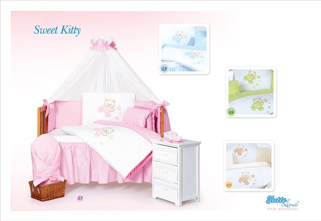 [:et]Voodipesukomplekt Tuttolina Sweet Kitty[:ru]Комплект постельного белья Tuttolina Sweet Kitty