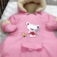 Laste talvekombe-kott 100% lambavilla voodriga Roosa