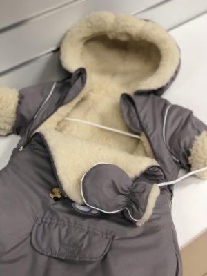 Beebi talve kombinesoon-kott lambavilla voodriga